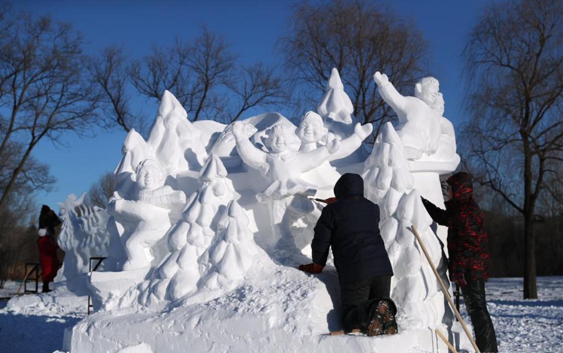 Highlights of 25th National Snow Sculpture Contest in Harbin