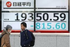 Tokyo stocks plunge in Christmas rout