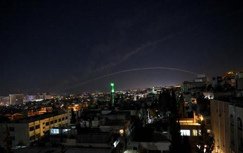 Syria's air defenses intercept Israeli missiles over capital Damascus
