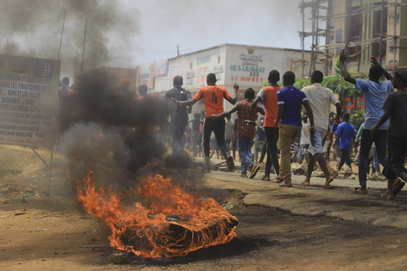Protests as Congo leader warns of Ebola vote 'disaster'