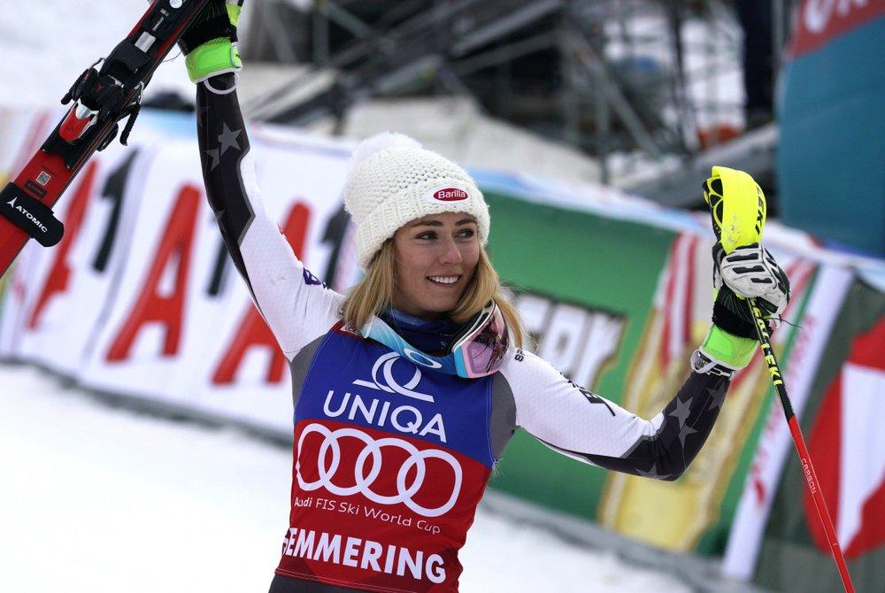 American Mikaela Shiffrin wins record 36th World Cup slalom