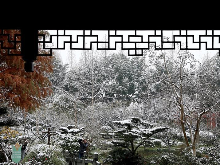 In pics: east China's Shanghai after snowfall