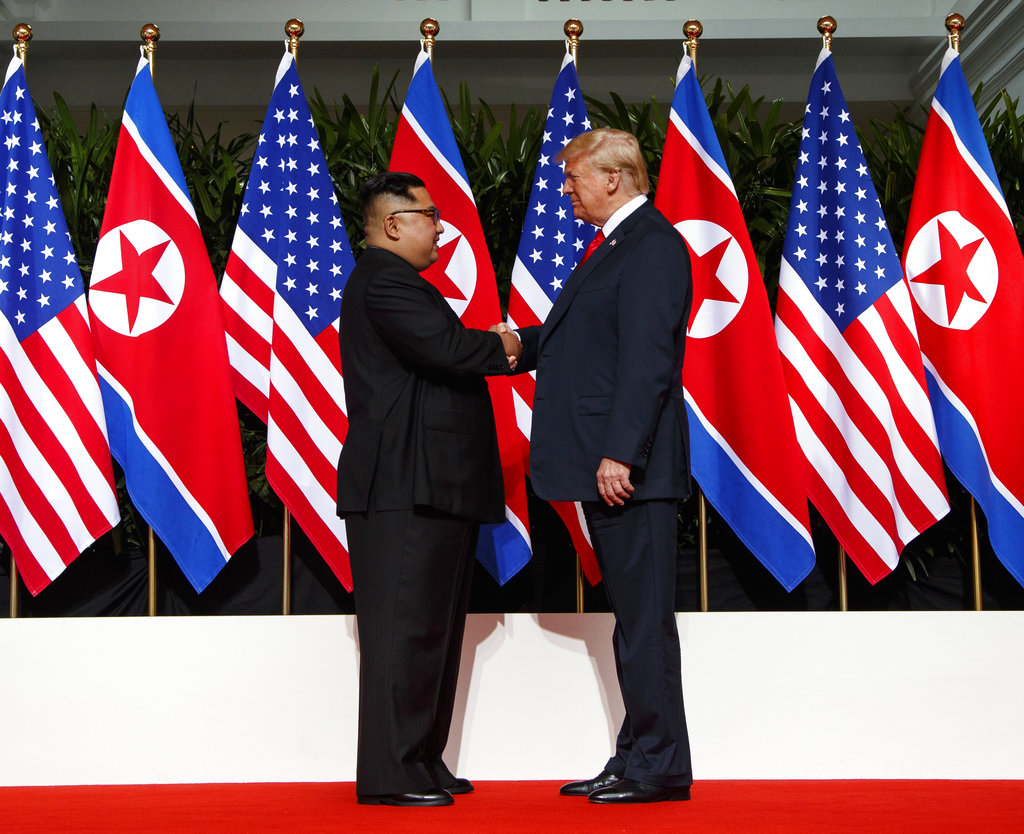 NKorean leader says he's ready for more talks with Trump
