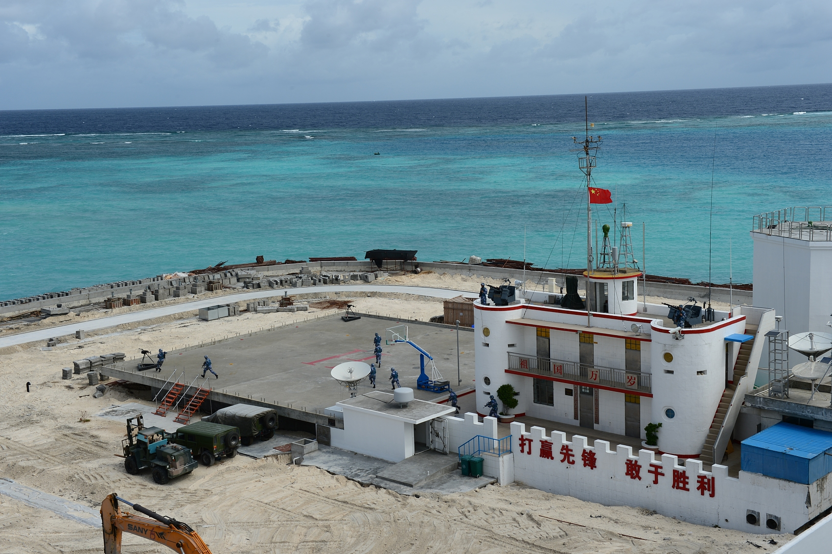 China launches ecological protection facilities on Nansha Islands