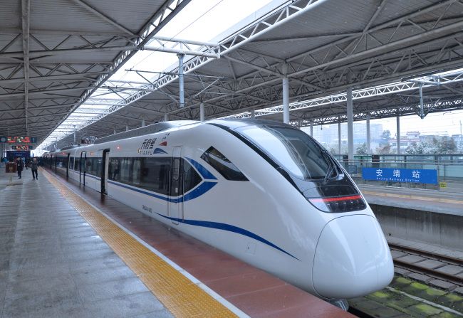 Inner-city bullet train starts operation in Southwest China