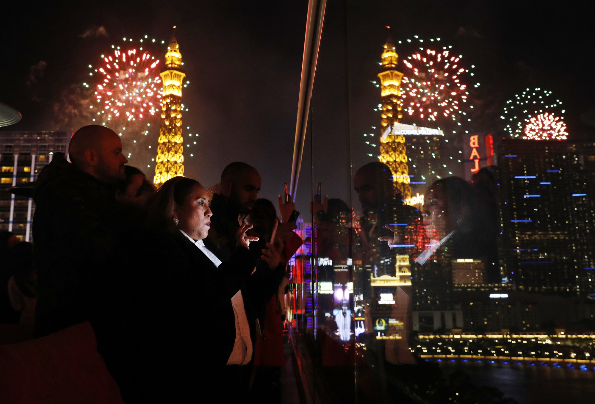 Fireworks, superstars ring in the new year in Las Vegas