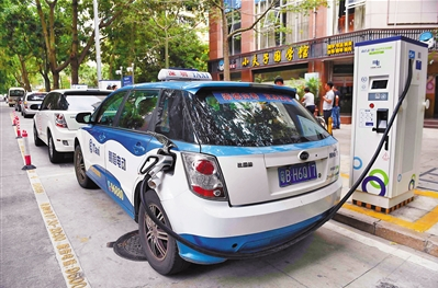 Taxis in China's tech hub Shenzhen almost entirely electric