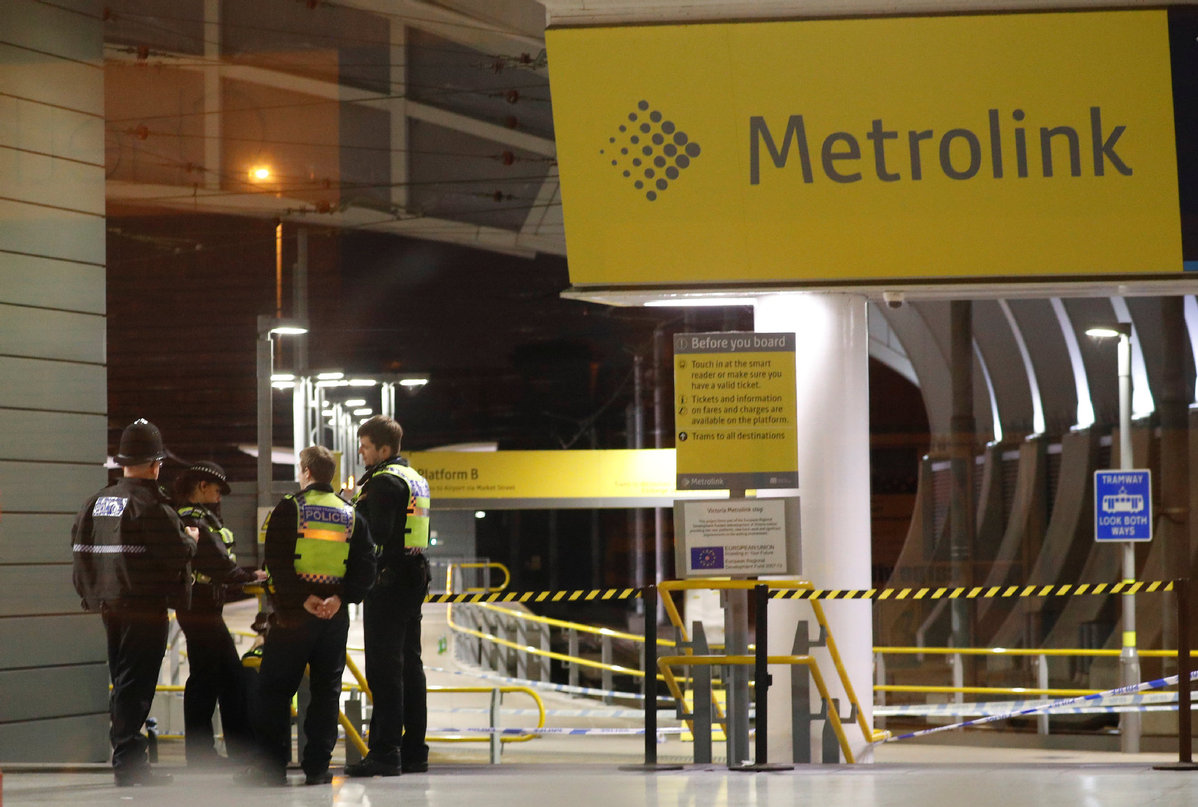 Manchester stabbing of three treated as terrorism