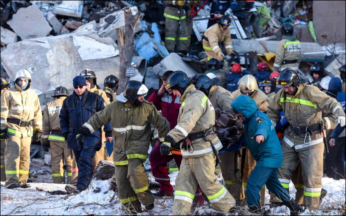 'Miracle' baby found in rubble after Russian building collapse