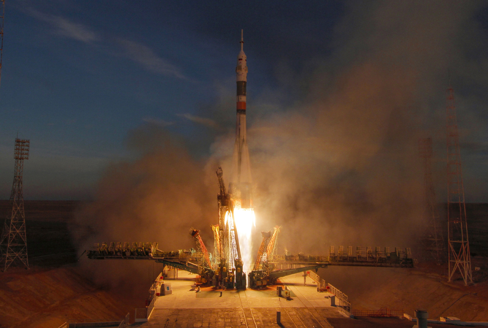 The Soyuz-FG rocket booster with Soyuz MS-11 space ship carrying a new crew to the International Space Station, ISS, blasts off at the Russian leased Baikonur cosmodrome, Kazakhstan, Monday, Dec. 3, 2018. [File photo: AP/Dmitri Lovetsky]
