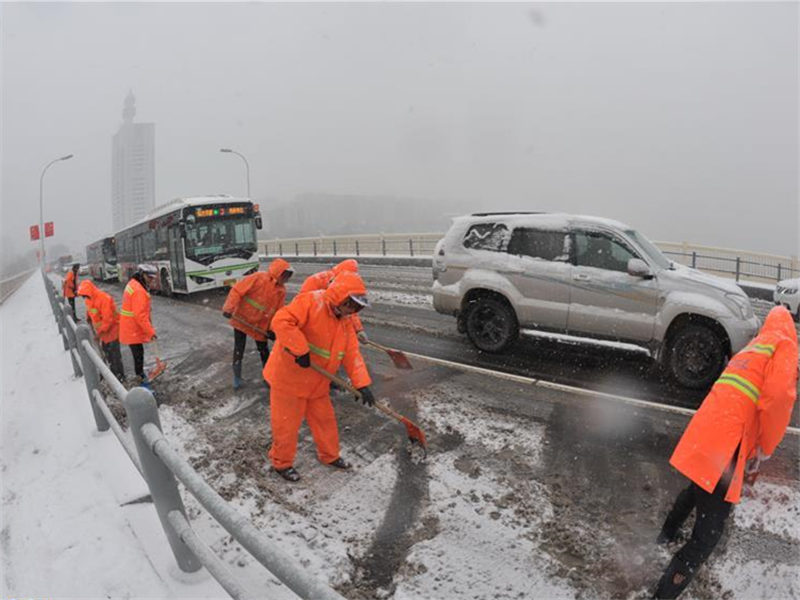 Over 860,000 people affected by rain, snow in central China