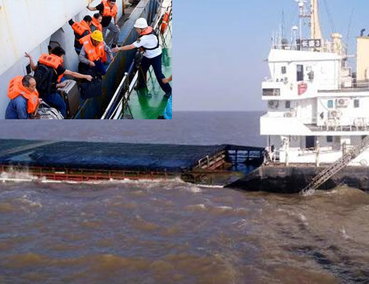8 missing in ship collision off China