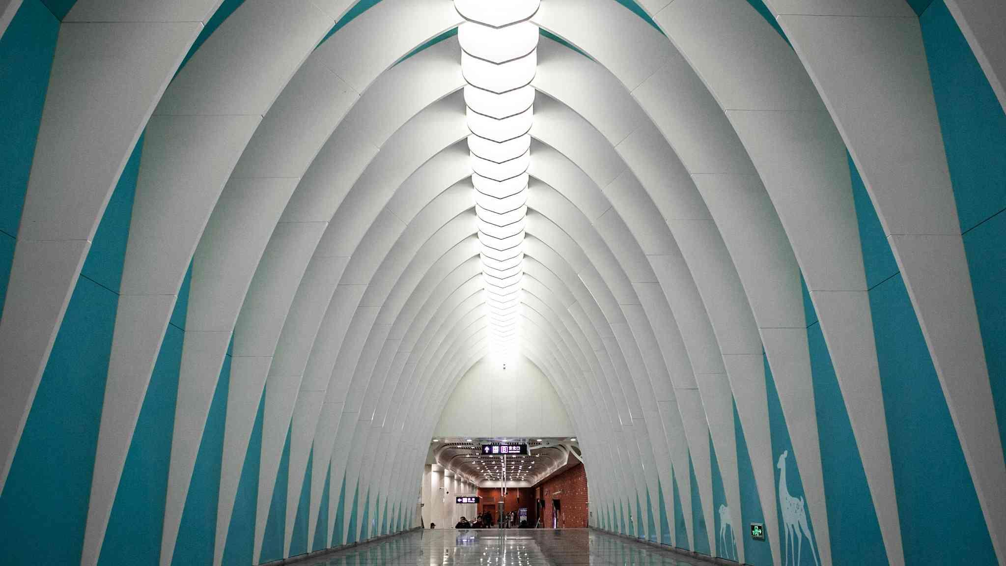 Commuters meet art at new Beijing subway stations