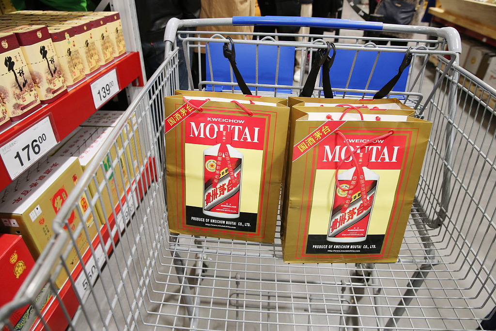 China's top liquor brand Moutai reports surge in overseas sales