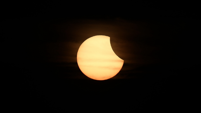 Could a partial solar eclipse affect the Chang'e-4 mission?