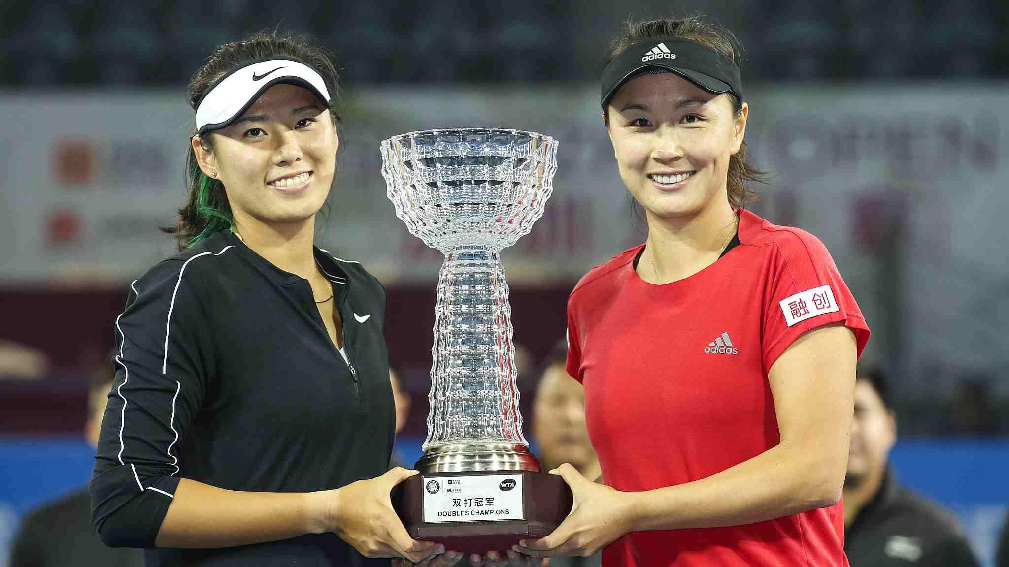 China's Peng Shuai and Yang Zhaoxuan win Shenzhen Open doubles title