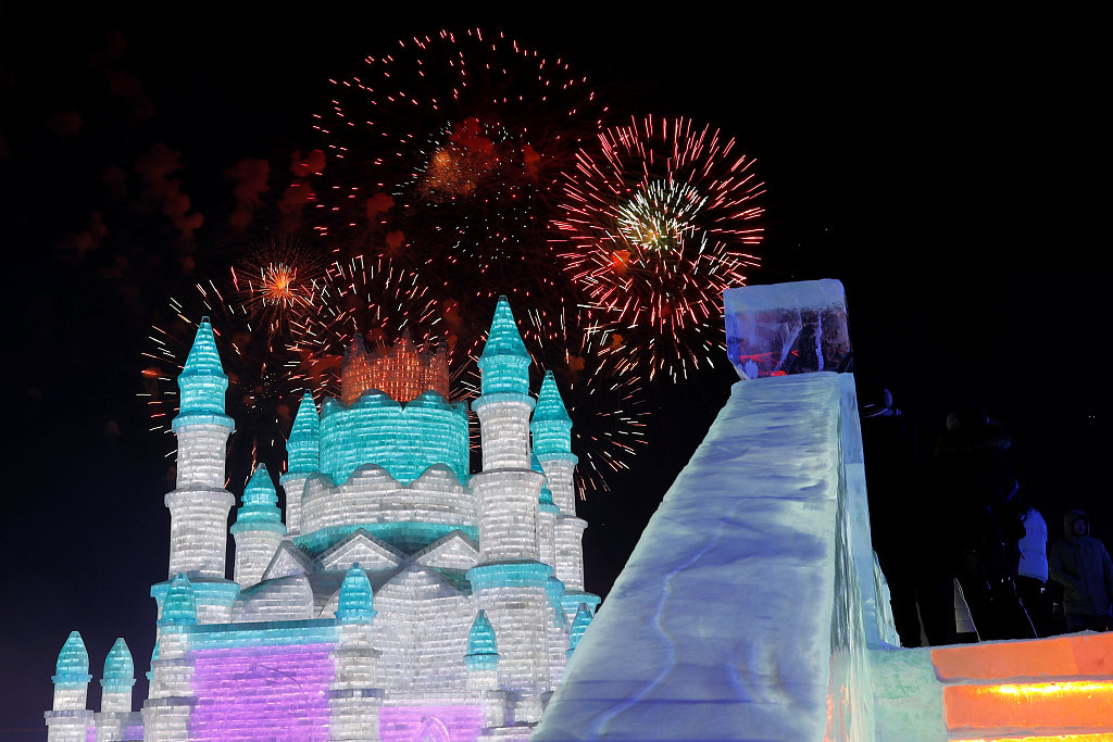 35th Harbin International Ice and Snow Sculpture Festival attracts tourists