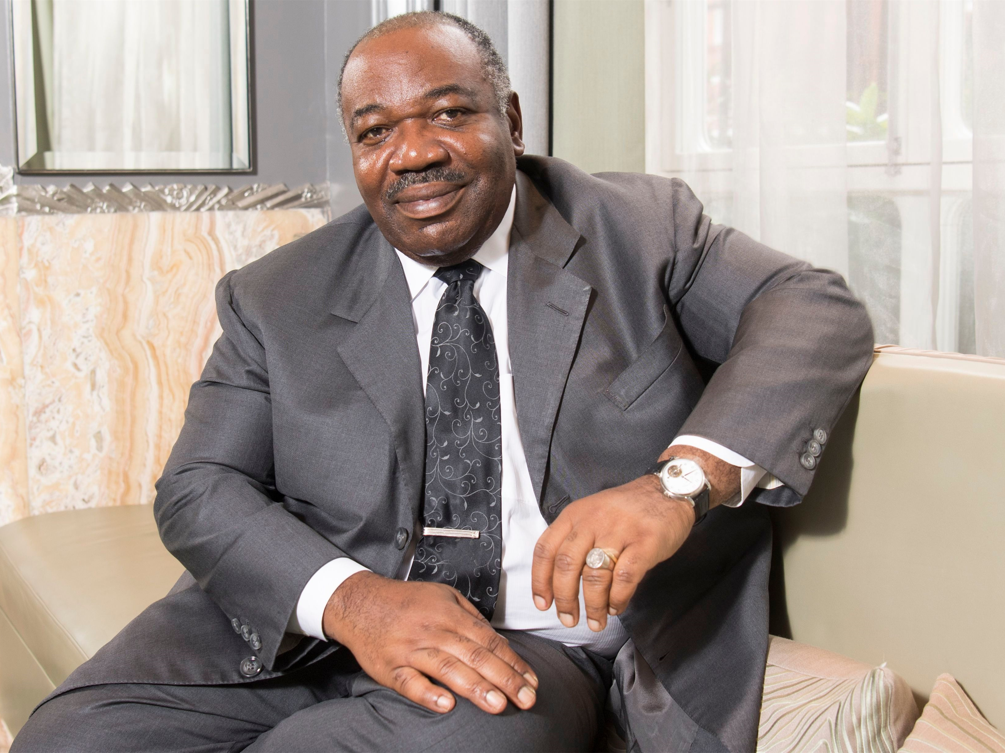 Military officers in Gabon read message on state radio criticizing president