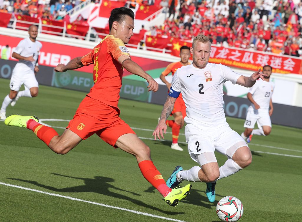 China beats Kyrgyzstan 2-1 in Asian Cup Group C match