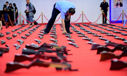 Public security minister stresses fight against gun, explosives crime