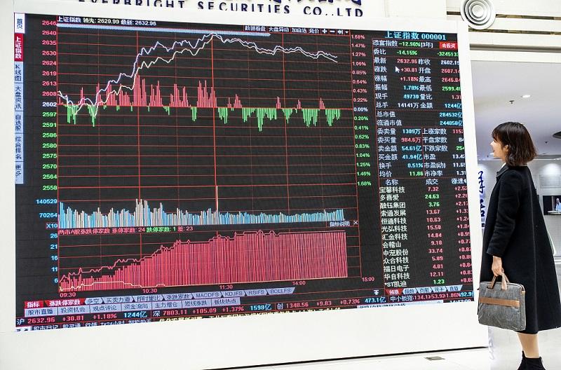 Chinese shares close mixed at midday Tuesday