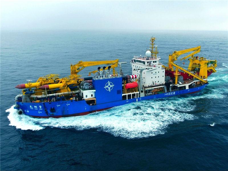 Asia's largest dredging vessel returns after completing sea trial