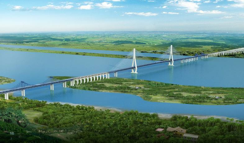 Construction starts on cable-stayed bridge with world's longest span
