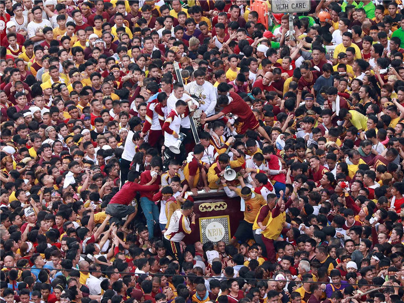 Millions gathered to celebrate the Black Nazarene feast day in Philippines