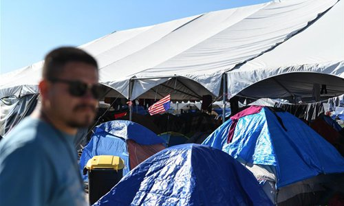 Migrants gather in Mexican border city Tijuana