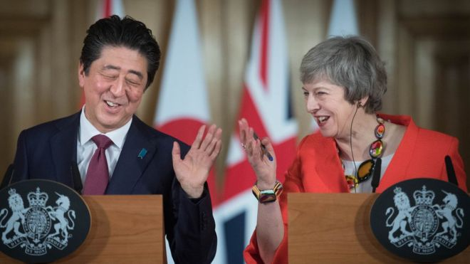 Japanese PM voices hope Britain can avoid no-deal Brexit