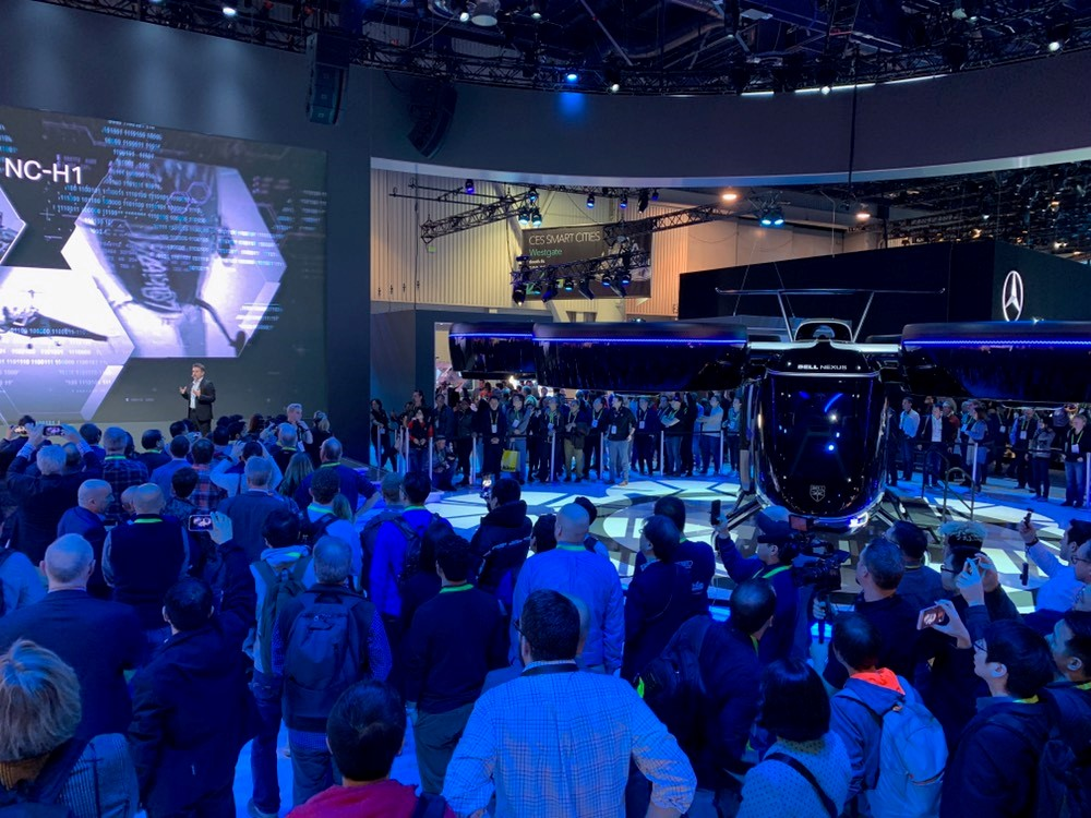 Bell Helicopter unveils hybrid electric flying taxi at CES