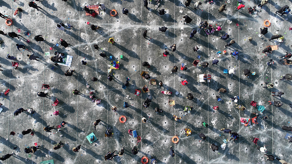 South Korean winter festival draws crowds of ice fishers