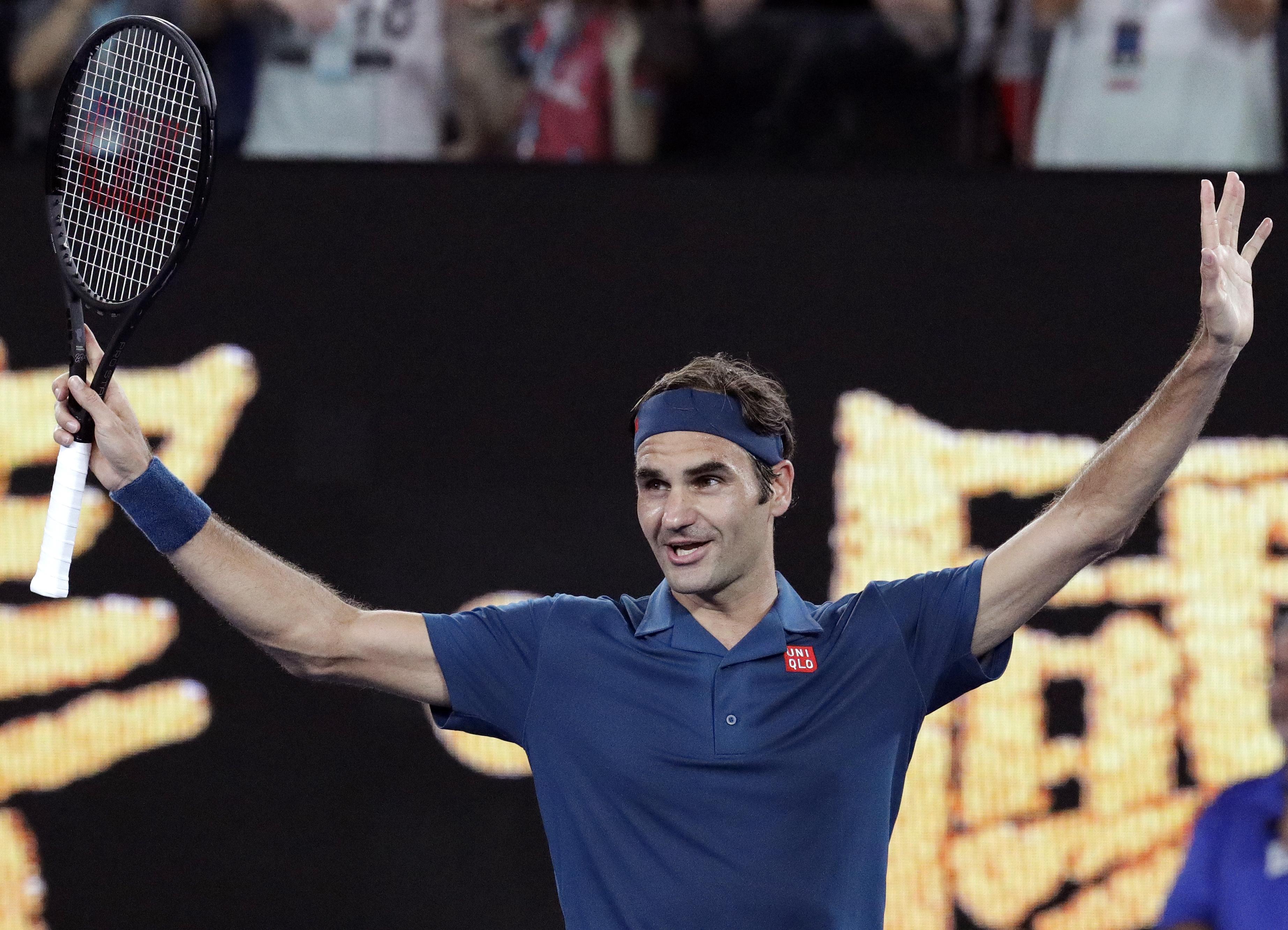 Federer through to 2nd round at Australian Open