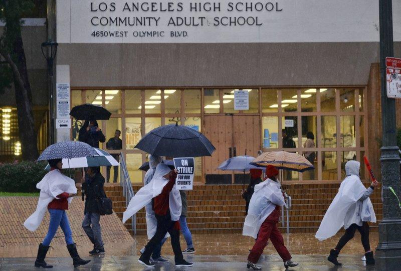Los Angeles schools open despite teacher strike