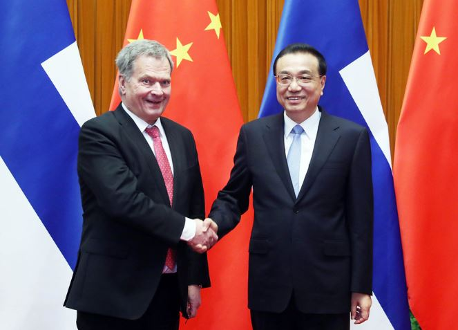 China, Finland to boost cooperation in services, climate change, Li says