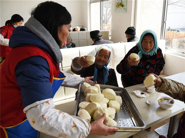 Charity restaurant for elders in Shandong