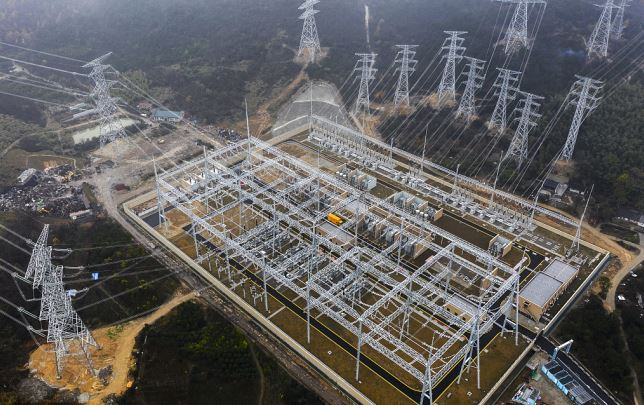 Ultra-high voltage power line put into operation in east China