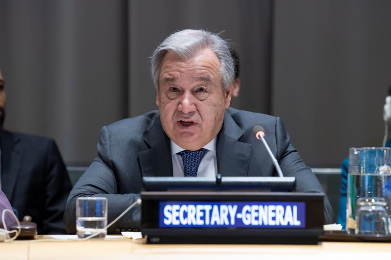 UN chief calls for global efforts in climate, growth and tech