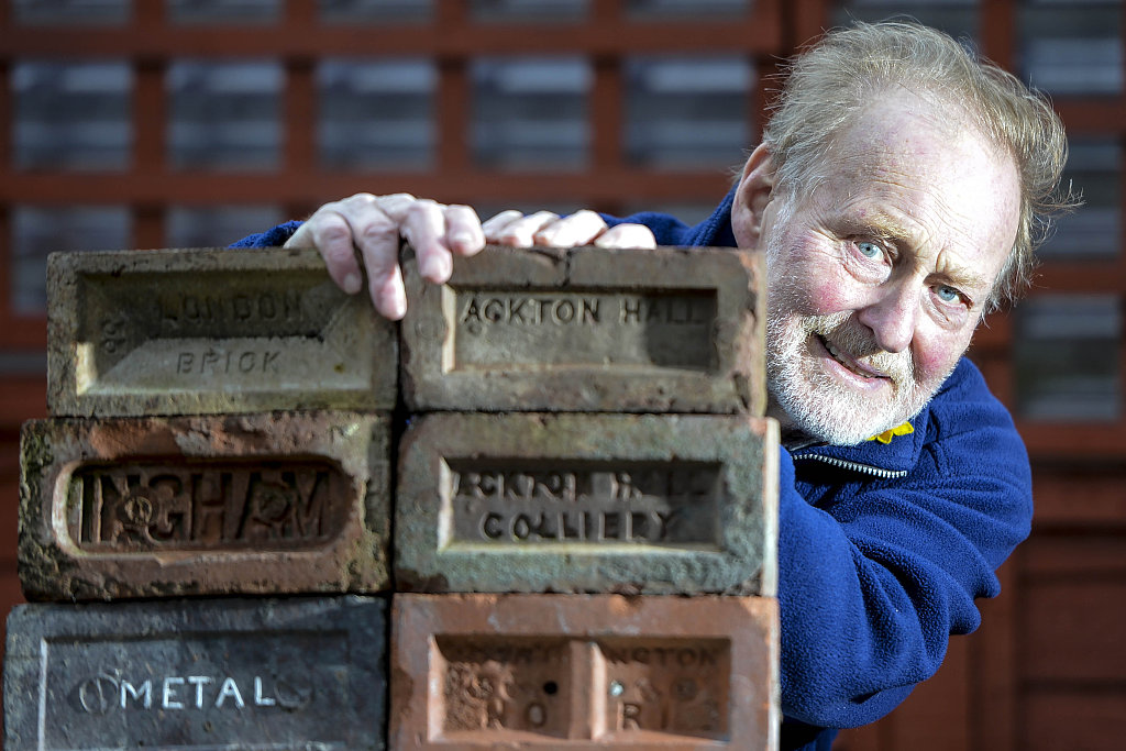 83-year-old British man collects bricks to preserve a bit of history