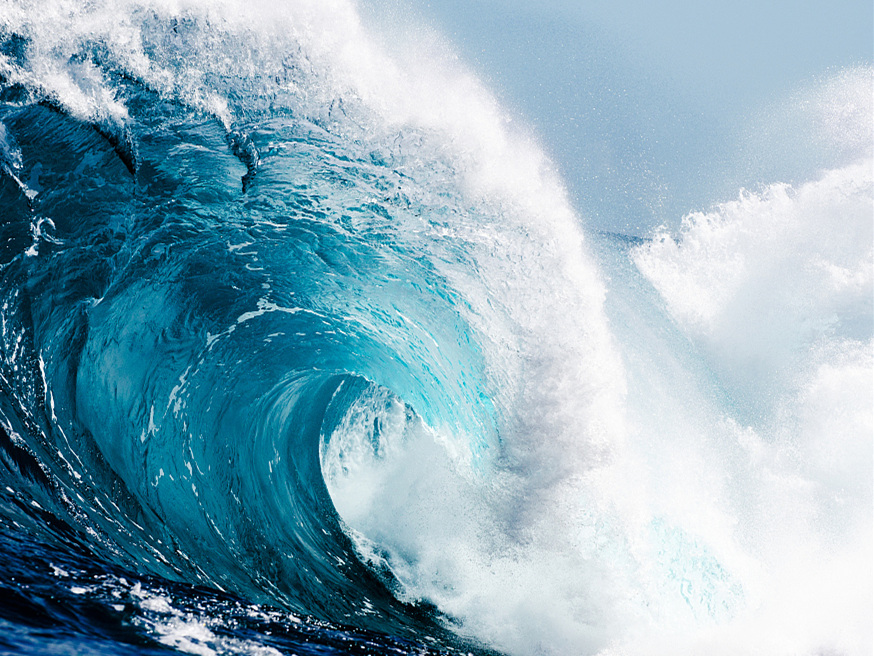 Climate change leads to stronger ocean waves