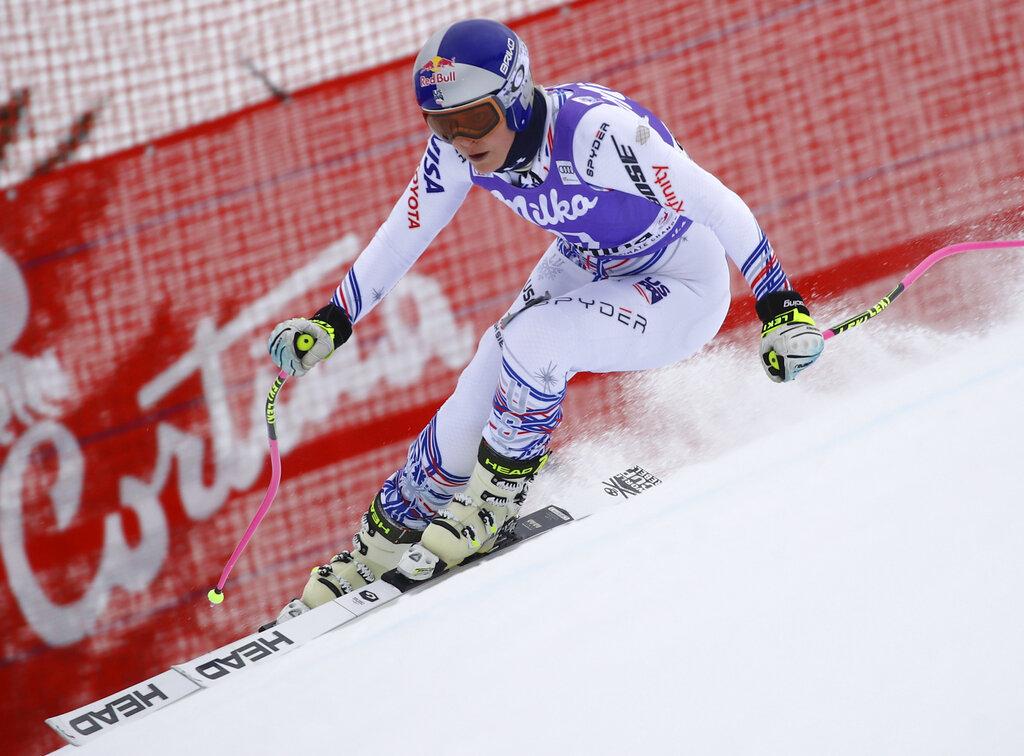 Vonn takes few risks in 1st downhill training run of season