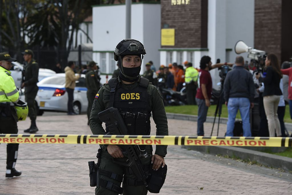 Eight dead in apparent car bomb attack on Colombian police school: official