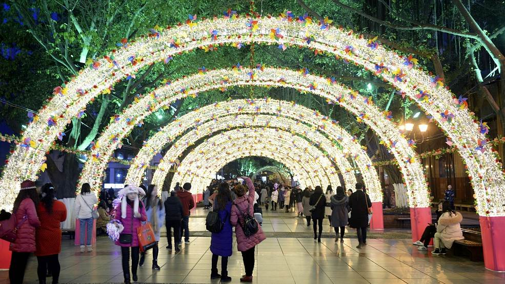 Glittering Nights: Chongqing lights up ahead of Chinese New Year