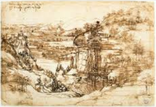 Study of Leonardo's 1st landscape finds he had 2nd thoughts