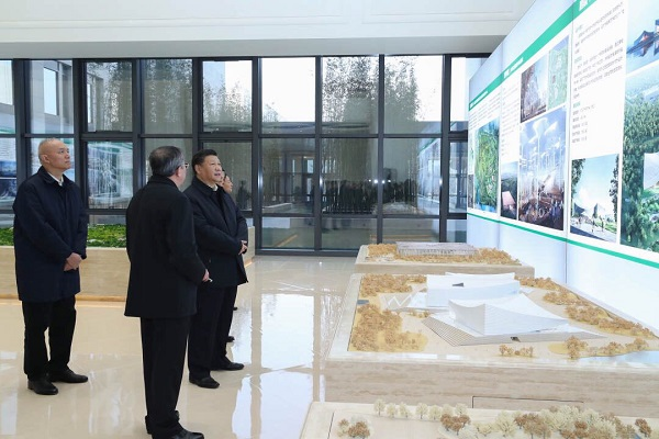 Chinese President Xi inspects Beijing's sub-center