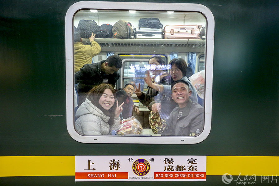 First temporary train from Shanghai departs ahead of Spring Festival travel rush