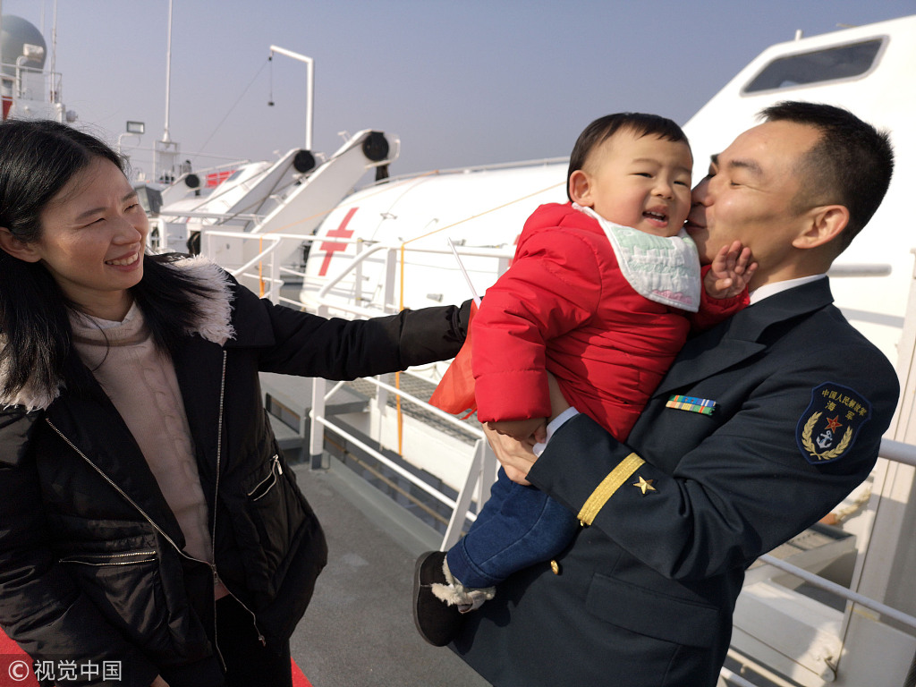 China's navy hospital ship finishes 205-day mission