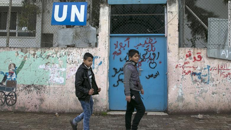 Palestinians condemn Israel's decision to close UN schools in Jerusalem from early 2020