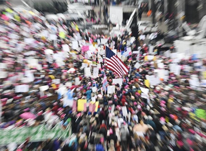 Thousands gather in Washington DC for third Women's March