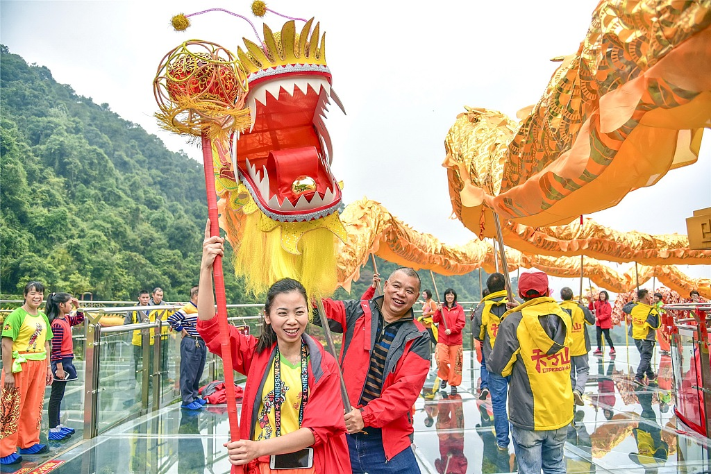 99-meter-long dragon dances to celebrate breaking two world records